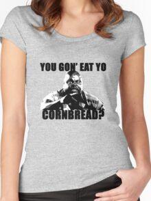You gon' eat yo cornbread? Women's Fitted Scoop T-Shirt