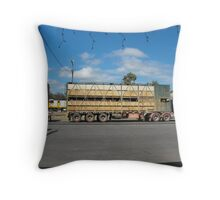 Cattle Truck on the Move Throw Pillow