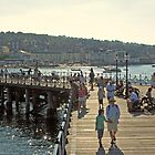 Victorian pier at Swanage, south coast of England by Philip Mitchell