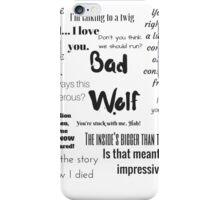 Rose Tyler- Bad Wolf iPhone Case/Skin