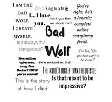 Rose Tyler- Bad Wolf Photographic Print