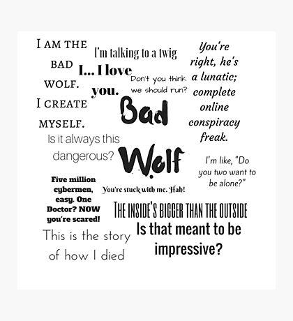 Rose Tyler- Bad Wolf Photographic Print