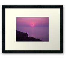 Purple Sea of Oblivion Framed Print