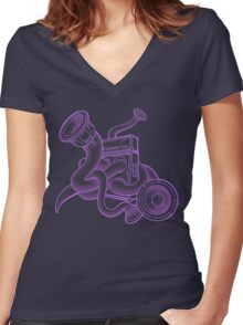 Amped Women's Fitted V-Neck T-Shirt