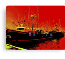 Fishing Boats, Point Judith, RI, USA Canvas Print