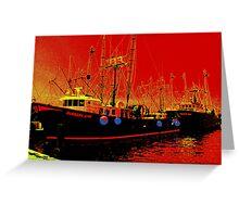 Fishing Boats, Point Judith, RI, USA Greeting Card