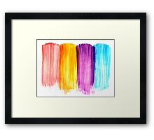 Abstract paint watercolor Framed Print