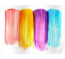 Abstract paint watercolor Poster