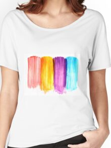 Abstract paint watercolor Women's Relaxed Fit T-Shirt