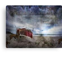 Last night tigers came Canvas Print
