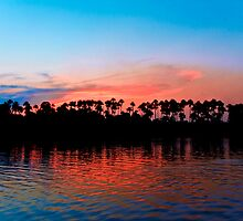 Amazonian Lake at Sun-Down by Stunningstills