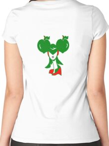 Apple Girl Green Women's Fitted Scoop T-Shirt