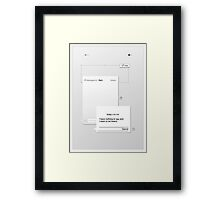 Nothing To Say Framed Print