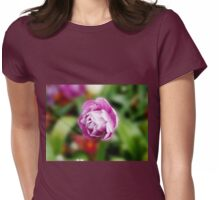 Pretty Purple Flower Womens Fitted T-Shirt