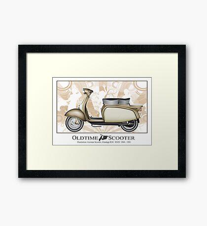 Oldtimer Scooter R50 Framed Print
