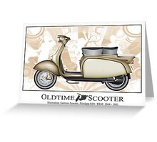 Oldtimer Scooter R50 Greeting Card