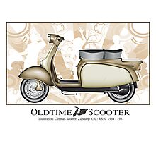 Oldtimer Scooter R50 Photographic Print