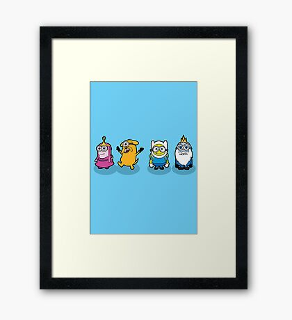 Time for a Minion Adventure Framed Print