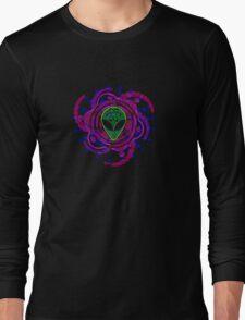 Psychedelic Alien - Dark Long Sleeve T-Shirt