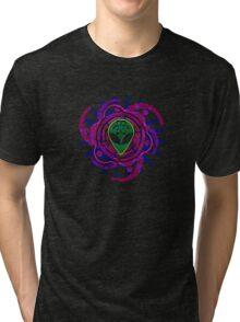 Psychedelic Alien - Dark Tri-blend T-Shirt