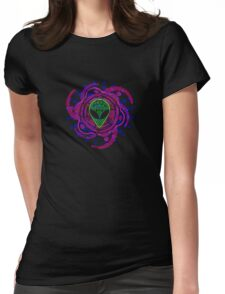 Psychedelic Alien - Dark Womens Fitted T-Shirt