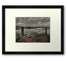 Champagne Yacht Framed Print
