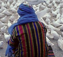 Youth  and  White  pigeon , Afghanistan by yoshiaki nagashima