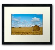 Hay Bales: East Sussex UK Framed Print