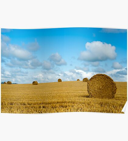 Hay Bales: East Sussex UK Poster