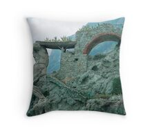 The Ruins of Neptune Throw Pillow