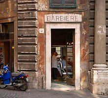 Barbiere - Rome, Italy by Bob  Perkoski