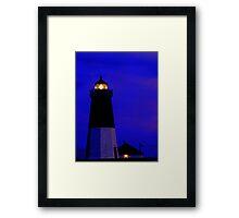 Point Judith Lighthouse, RI, USA Framed Print
