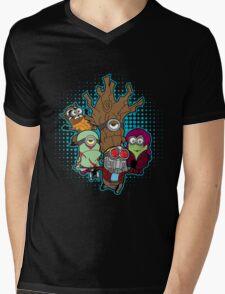 Galaxy Minions Mens V-Neck T-Shirt