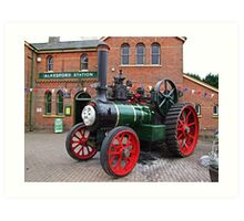 """Trevor"" The Traction Engine Art Print"