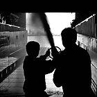 Boys on Ships man the hoses by ragman