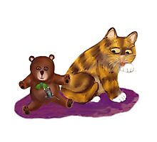 Mouse, Kitty and a Teddy Bear Photographic Print