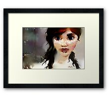 Rainy Days and Freckles Framed Print