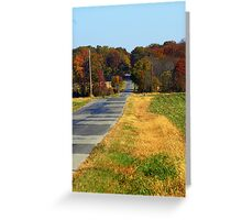 The Long Road home.... Greeting Card