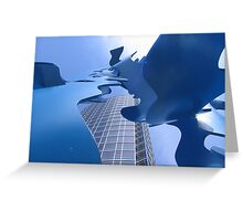 Blue Currents Greeting Card