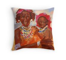 The African Mother and Child Throw Pillow