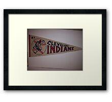 CLEVELAND INDIANS FLAG VINTAGE Framed Print