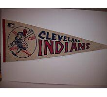 CLEVELAND INDIANS FLAG VINTAGE Photographic Print