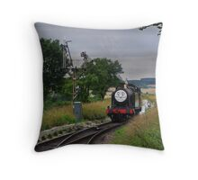 """Douglas"" Approaches The Points Throw Pillow"
