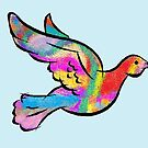 Psychedelic Dove by Jana Gilmore