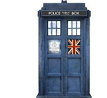 Police Box Union Jack by Amantine