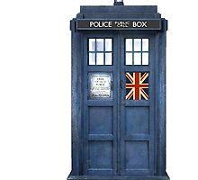 Police Box Union Jack by Amantine