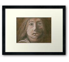 Cardboard Child Framed Print