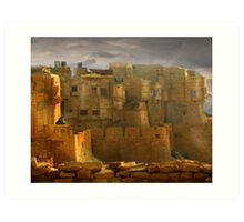 Lone Woman of Jaisalmer Art Print
