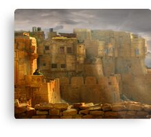 Lone Woman of Jaisalmer Metal Print
