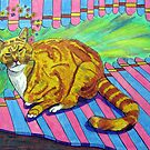 270 - MAO,THE SAINTLY CAT - DAVE EDWARDS - COLOURED PENCILS AND FINELINERS - 2009 by BLYTHART